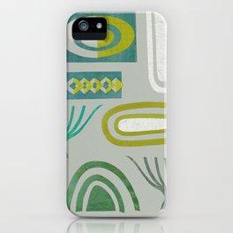 Green bits iPhone Case