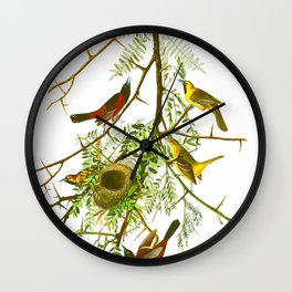 Orchard Oriole Bird Wall Clock
