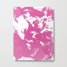 Marble pink 1 Suminagashi watercolor pattern art pisces water wave ocean minimal design Metal Print
