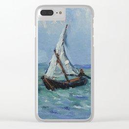 Seascape near Les Saintes-Maries-de-la-Mer Clear iPhone Case