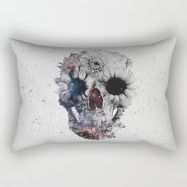 Floral Skull 2 Rectangular Pillow