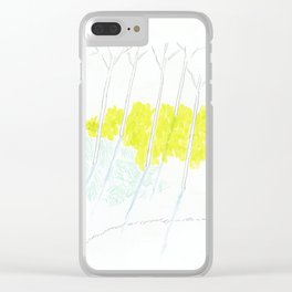 Trees and sunshine Clear iPhone Case