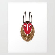 Mbambi Tribal Mask Art Print
