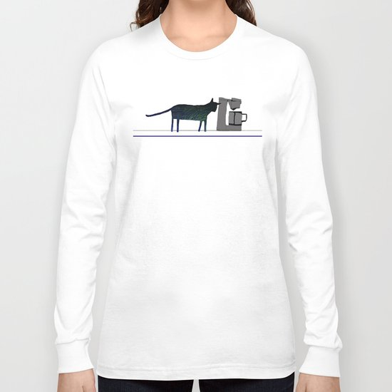 Cat on the Counter Long Sleeve T-shirt