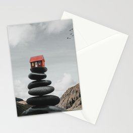 House on pebbles Stationery Cards