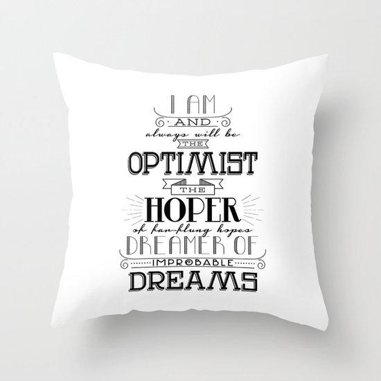 Doctor Who - Optimist Throw Pillow