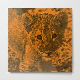 Lion Cub,golden Metal Print