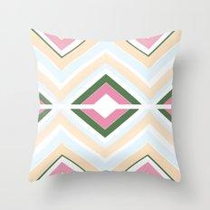 Mod stripes in Sorbet Throw Pillow