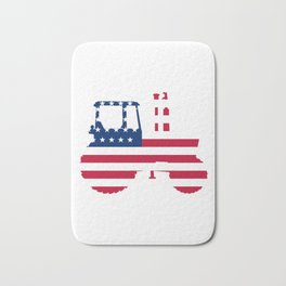 4th Of July Tractor Bath Mat