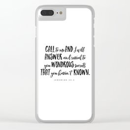 Jeremiah 33:3 - Bible Verse Clear iPhone Case