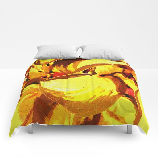 Sunset Foliage Abstract Comforters