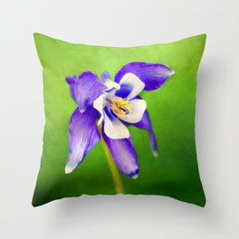 Spring Columbine Throw Pillow