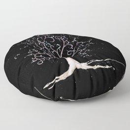 Dark elven tree Floor Pillow