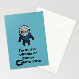 Garrus: In the middle of some calibrations Stationery Cards