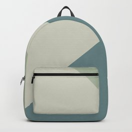 Muted Aqua Green and Beige Solid Color Abstract 2021 Color of the Year Aegean Teal & Accent Shades Backpack