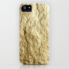 Crinkled Gold iPhone Case