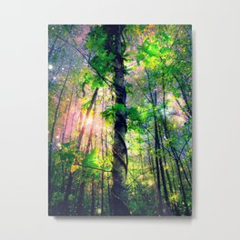 Forest of the Fairies (Deep Pastels) Metal Print