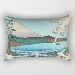 Sea at Satta Suruga Province Japan Rectangular Pillow