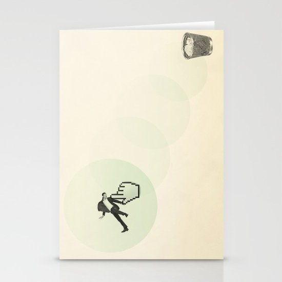 trash man Stationery Cards