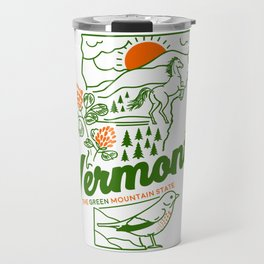 Vintage Vermont Nature Line Art Travel Mug