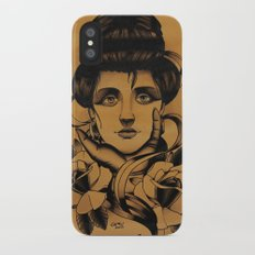 WOMAN and Roses - TATTOO iPhone X Slim Case
