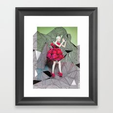 Alexander McQueen Doodle Bomb by Downtown Doodler Framed Art Print