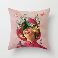eugenia loli Throw Pillows featuring Chrysalis by Eugenia Loli