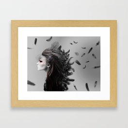 Fighting Feathers Framed Art Print