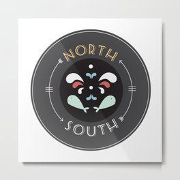 North and South Metal Print