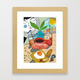 Cosy brunch Framed Art Print