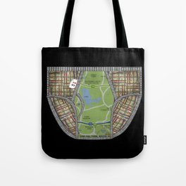 UNDERWEAR LOVE: NY UNDIES Black Tote Bag