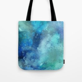 Abstract navy blue teal turquoise watercolor pattern Tote Bag