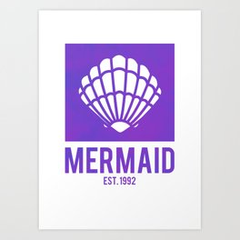 Mermaid Est.1992 Art Print