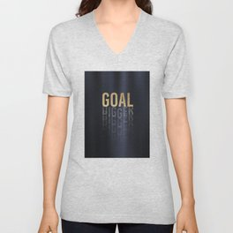 Goal Digger - Gold on Black Unisex V-Neck