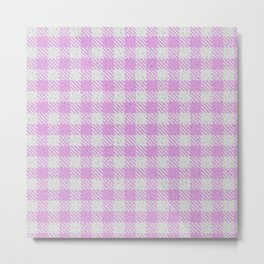 Plum Buffalo Plaid Metal Print