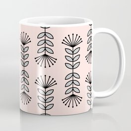 Retro Pink Floral Pattern-Mix and Match with Simplicity of Life Coffee Mug