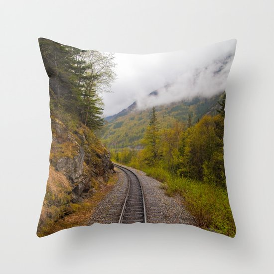 The ride to dusk Throw Pillow