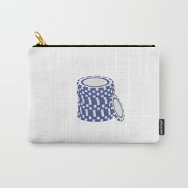 Blue poker chips Carry-All Pouch