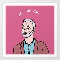 Jeremy Corbyn Art Print