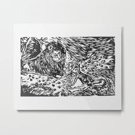 The Lion, the Fox, and the Beasts Metal Print