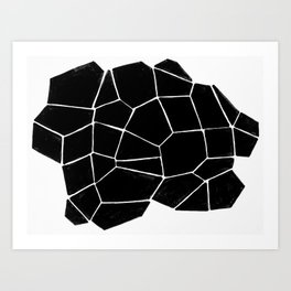 Connecting Shapes Art Print