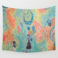 ballon Wall Tapestries featuring Balloon Therapy by Porfyra