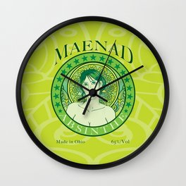 Maenad Absinthe Wall Clock