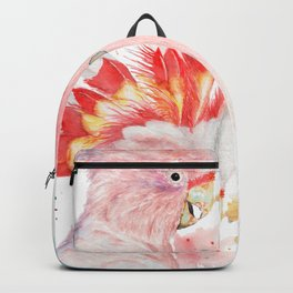 """Watercolor Painting of Picture """"Inca Cockatoo"""" Backpack"""