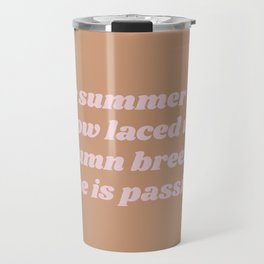 laced with autumn breezes Travel Mug