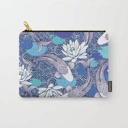 Blue Koi Ripples Carry-All Pouch