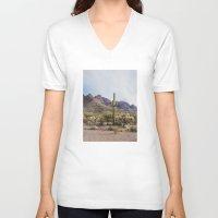 arizona V-neck T-shirts featuring Arizona Cactus by Kevin Russ