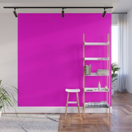 Fluorescent Neon Hot Pink Wall Mural