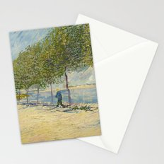 Along the Seine by Vincent Van Gogh, 1887 Stationery Cards