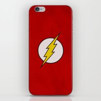 flash iPhone & iPod Skins featuring Flash by Some_Designs